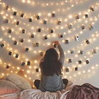 LED装饰彩灯ins星星灯少女心寝室房间卧室装饰布置拍照闪灯串灯 100米800灯(颜色请备注)