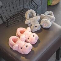 儿童拖鞋秋季穿女冬季室内棉鞋居家包头鞋