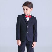 男童西服儿童西装外套中大童英伦礼服男孩花童格子套装