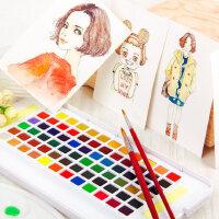 日本樱花泰伦斯24色固体水彩画纸套装18色30色36色48色水彩颜料套装分装固体水粉固彩便携透明水彩