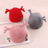 宝宝帽子秋冬韩版毛线帽男3-6-12个月可爱保暖套头帽女潮婴儿帽
