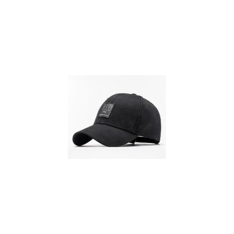 纯色帽子字母贴布棒球帽时尚休闲百搭出游鸭舌帽男士帽子韩版街头潮人
