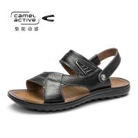 骆驼动感男鞋凉鞋男潮夏季真皮新款牛皮韩版休闲鞋男士沙滩鞋