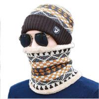 男士套头帽子冬季青年户外防风骑车保暖帽护耳针织毛线帽围脖