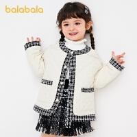 【2件6折价:167.9】巴拉巴拉童装女童外套小童宝宝洋气春季2021新款棉服儿童小香风女