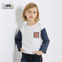 小虎宝儿童装男童长袖T恤儿童打底衫纯棉3-4-5-6-7岁2017秋款新品