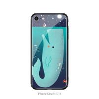 可爱蓝鲸苹果8plus手机壳潮男新款iPhone6splus保护套6个性创意7网红明星同款7plus 7/8 可爱蓝鲸与