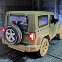 仿真jeep合金汽车模型越野军事泥泞版吉普车金属玩具车