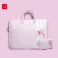 苹果笔记本电脑包女手提macbook air13.3内胆包pro公文包13套14时尚可爱小清新 +粉红豹电源包
