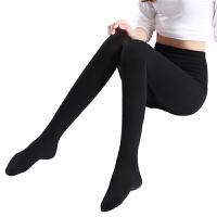 压力裤女袜美腿塑形紧身肉色打底丝袜薄款黑色中厚连裤袜春秋 2件 黑色连脚
