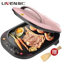 利仁(Liven)LR-D3400 电饼铛 电脑版下盘可拆卸洗 食品级不粘涂层