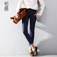 初语冬季裤子女修身铅笔裤大码女装小脚裤休闲裤女8531912929