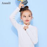 【2件45折:47.6】安奈儿童装亲子款纯色简约大方上衣