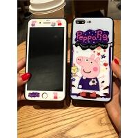 �O果iphone7plus�化膜全屏8p手�C�げAР誓�6s卡通6plus可�圪N膜 加前膜