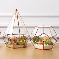 欧式风灯玻璃罩几何透明玻璃花房家居摆件悬挂微景观文艺玻璃花瓶