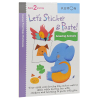 【首页抢券300-100】Kumon Let's Sticker & Paste Amazing Animals 公文式
