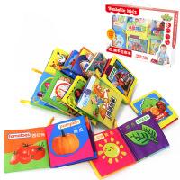 仙邦宝贝0-3岁婴儿布书宝宝早教书撕不烂幼儿学习教具12本盒装