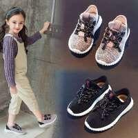 女童运动鞋夏秋男童网面透气跑步鞋儿童百搭小白网鞋