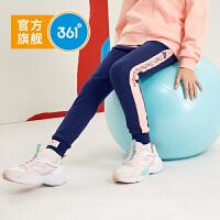 【新春到手价:99.5】361度童装 女童针织裤子2020春秋新款儿童针织长裤运动休闲裤