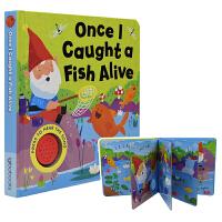 【首页抢券300-100】Once I Caught a Fish Alive 当我钓了一条鱼 启蒙认知发声书 儿童英语
