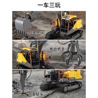 挖土机男孩遥控车儿童玩具超大号挖掘机正版授权沃尔沃合金工程车