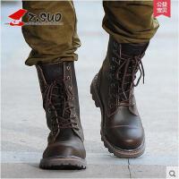 Z.Suo/走索男鞋潮流男靴子英伦马丁靴男牛仔靴男士军靴潮鞋 ZS8818