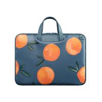 防水笔记本电脑包女手提 戴尔apple11.6华硕12小米可爱小清新文艺13.3寸14好看的15.6 复古橘子