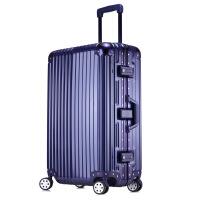 2018新款铝框行李箱旅行箱20万向轮拉杆箱包女24韩版学生密码皮箱子男28寸