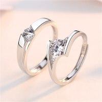 戒指女一对大钻戒男士结婚求婚订婚情侣对戒戒子