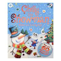 Chilly The Snowman 寒冷雪人 圣诞贴纸书 纸模手工 英文儿童