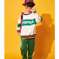 街舞衣服男儿童街舞套装少儿hiphop演出服装宽松卫衣潮秋冬装