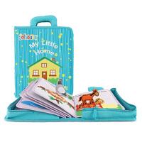 jollybaby 蒙特梭利my first book早教布书3-6岁儿童小小家园亲子互动益智玩具 抖音土豪书网红同款