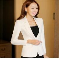 小西装女外套韩版长袖西服短款女上衣修身西服短款百搭工作服