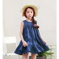 新品夏装童装韩版女童连衣裙无袖中大童宽松版童裙
