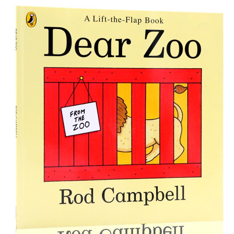 进口英文原版绘本Dear Zoo亲爱的动物园 儿童英语启蒙早教读本书籍 0-4岁趣味翻翻书纸板书吴敏兰书单 认识动物系列 大开平装