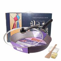 【支持礼品卡】韩国进口不粘锅 炒锅少油烟30cm磁火通用家用锅具7kg
