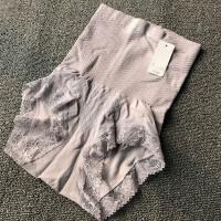 2017春夏新款高腰日系无缝收腹内裤 蕾丝产后塑身提臀大码三角裤  M-C1737