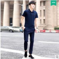 运动服时尚立领韩版卫衣青年跑步潮短袖男士运动套装薄款时尚休闲