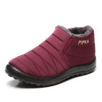 老北京布鞋冬季保暖棉鞋女士加绒短靴加厚平底妈妈鞋棉靴