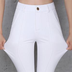 卡茗语微喇叭裤女九分裤高腰胖妹妹大码女裤八分裤女士薄款棉布裤