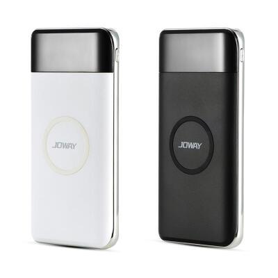 乔威JP150无线充移动电源 双输入接口 一放即充 拿起即用 充电灵活自由简约时尚 提升充电速度