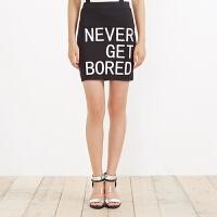 【1件3折到手价:7.5】美特斯邦威女装摇滚字母印花包臀背带裙258211