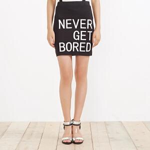 【2件2.5折到手价:7.25】美特斯邦威女装摇滚字母印花包臀背带裙258211