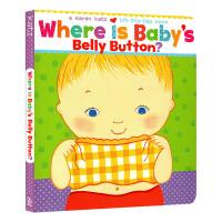 正版 宝宝的肚脐眼在哪里 英文原版绘本 Where Is Baby's Belly Button karen katz