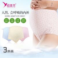 雅燕芳孕妇精梳棉高腰可调节腰型内裤孕产妇托腹内裤