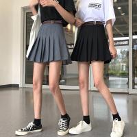 短裙女春秋2019新款韩版ins超火的裙子百搭高腰半身裙显瘦百褶裙