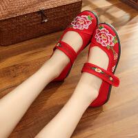 新老北京布鞋女民族风绣花鞋软底广场舞舞蹈鞋舒适透气妈妈鞋