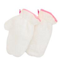 洗碗神器竹纤维加绒洗碗手套厨房家务清洁抹布薄款白洁巾耐用女冬 1双 M