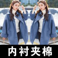 №【2019新款】冬天年轻人穿的秋冬妮子大衣女装学生中长款小个子毛呢外套加厚