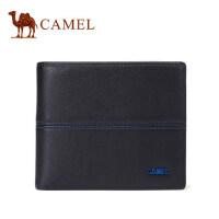 Camel/骆驼春季新款男士真皮钱包休闲短款牛皮钱夹横款青年男皮夹